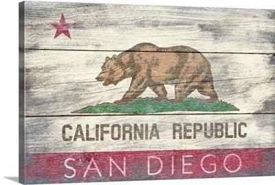 San Diego, California, State Flag, Barnwood Painting