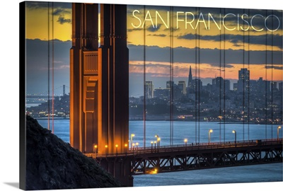 San Francisco, California, Golden Gate Bridge and Skyline