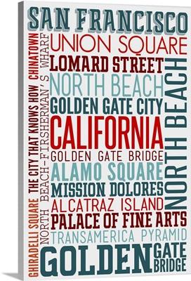 San Francisco, California, Typography
