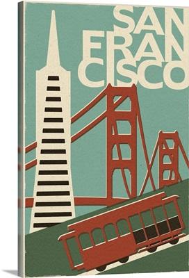 San Francisco, California, Woodblock
