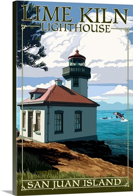 San Juan Island, Washington, Lime Kiln Lighthouse Day Scene