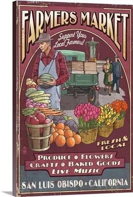 San Luis Obispo, California, Farmers Market Vintage Sign
