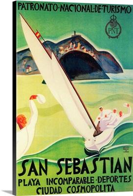 San Sebastian Vintage Poster, Europe