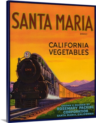 Santa Maria Vegetable Label, Santa Maria, CA
