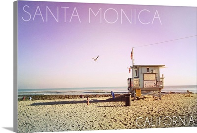 Santa Monica, California, Lifeguard Shack Sunrise