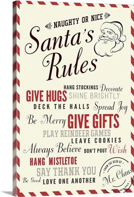 Santa's Rules Typography