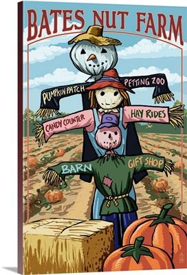 Scarecrow Signs, Bates Nut Farm, California