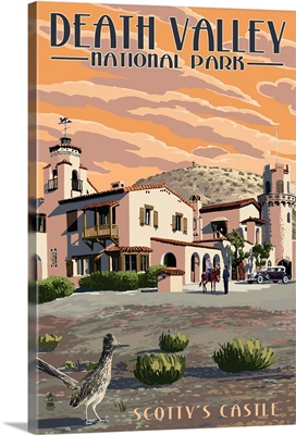 Scotty's Castle - Death Valley National Park: Retro Travel Poster