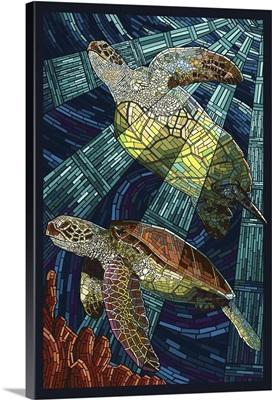 Sea Turtle, Paper Mosaic