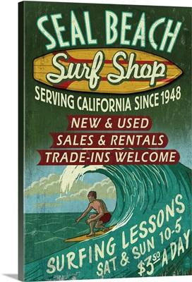 Seal Beach, California, Surf Shop Vintage Sign