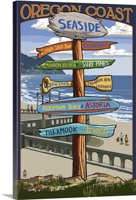 Seaside, Oregon, Destination Sign