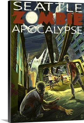 Seattle Zombie Apocalypse: Retro Travel Poster