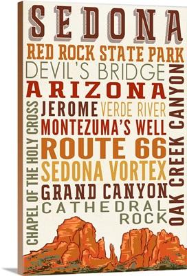 Sedona, Arizona, Typography