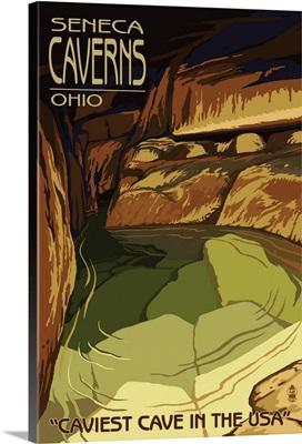 Seneca Caverns, Ohio - Pool: Retro Travel Poster