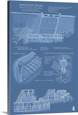 Shasta Dam, California, Blueprint