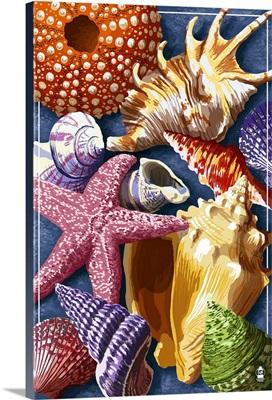 Shells Montage: Retro Poster Art