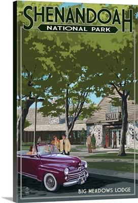 Shenandoah National Park, Virginia - Big Meadows Lodge: Retro Travel Poster