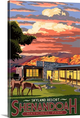 Shenandoah National Park, Virginia - Skyland Resort: Retro Travel Poster