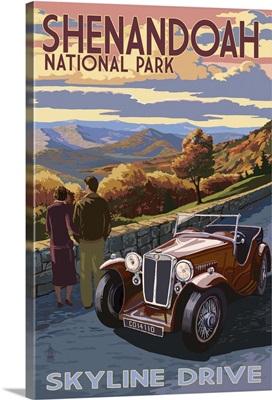 Shenandoah National Park, Virginia - Skyline Drive: Retro Travel Poster