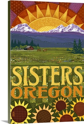 Sisters, Oregon, Mountains and Meadow Quilt Design