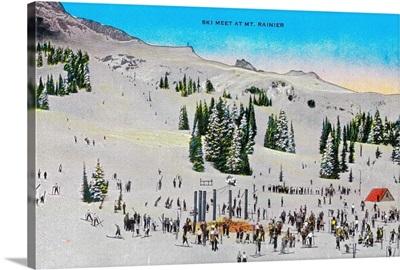 Ski Meet and Mt. Rainier, Rainier National Park