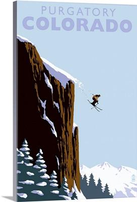 Skier Jumping, Purgatory, Colorado