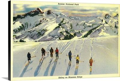 Skiing on Mazama Ridge, Rainier National Park