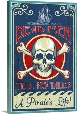 Skull and Crossbones, Vintage Sign