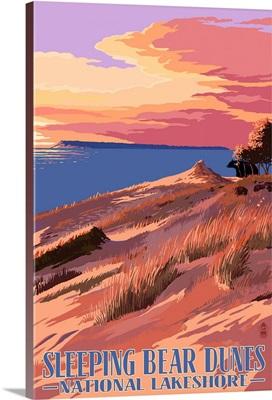 Sleeping Bear Dunes National Lakeshore, Dunes Sunset and Bear