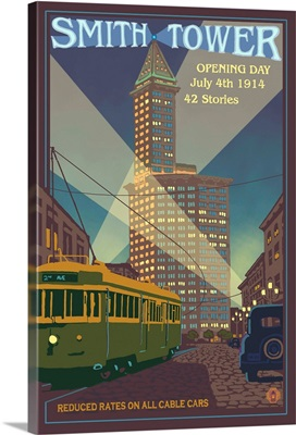 Smith Tower: Retro Travel Poster