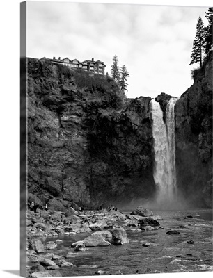 Snoqualmie Falls - View from Below Falls Photograph: Retro Travel Poster