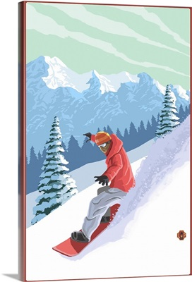 Snowboarder: Retro Poster Art