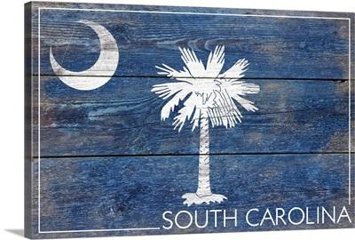 South Carolina State Flag, Barnwood Painting