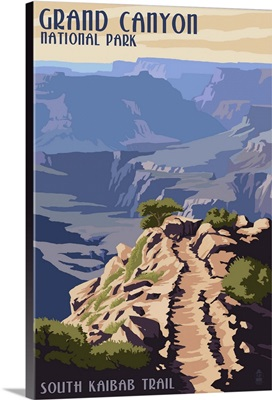 South Kaibab Trail - Grand Canyon National Park: Retro Travel Poster