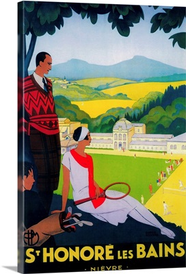 St. Honore Les Bains Vintage Poster, Europe