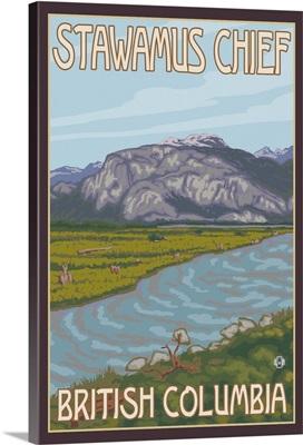Stawamus Chief - Squamish, BC: Retro Travel Poster