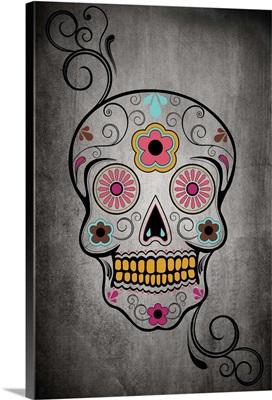 Sugar Skull: Retro Poster Art