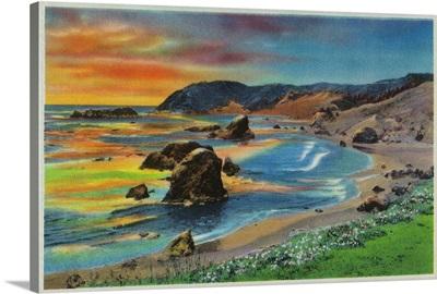 Sunset at Cape San Sebastian, Oregon Coast