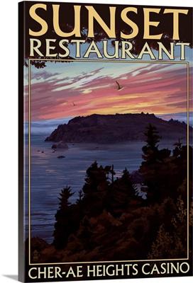 Sunset Restaurant, Cher-Ae Heights Casino, Trinidad, California