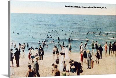 Surf Bathing, Hampton Beach, New Hampshire