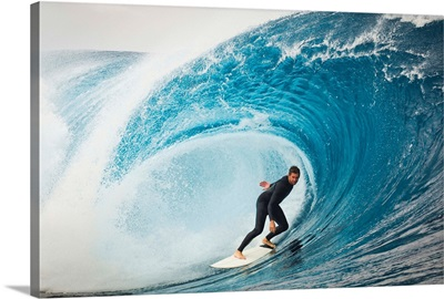 Surfer in Perfect Wave