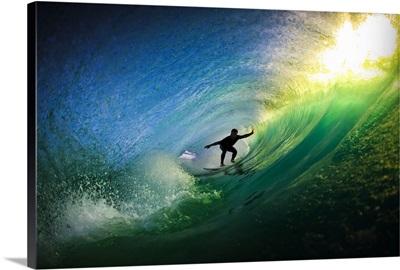 Surfer in Tube