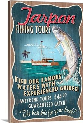Tarpon Fishing Tours, Vintage Sign