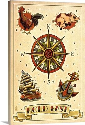 Tattoo Flash Sheet - Sailors: Retro Poster Art