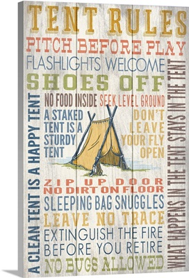 Tent Rules Typography
