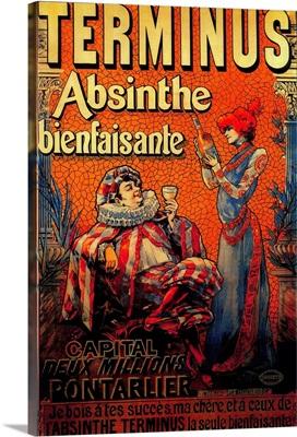 Terminus Absinthe Vintage Poster, Europe