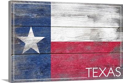 Texas State Flag, Barnwood Painting