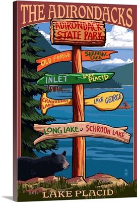 The Adirondacks, Adirondack State Park, New York, Destination Signpost