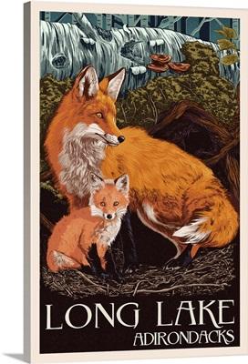 The Adirondacks, Long Lake, New York, Fox and Kit, Letterpress