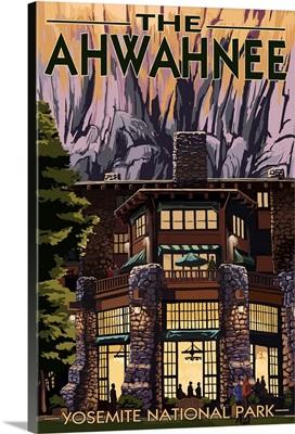 The Ahwahnee - Yosemite National Park - California: Retro Travel Poster